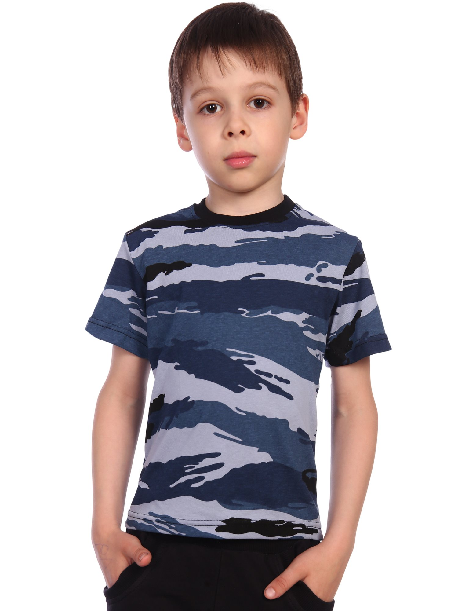 футболка детская (кулирка) камыш голубой