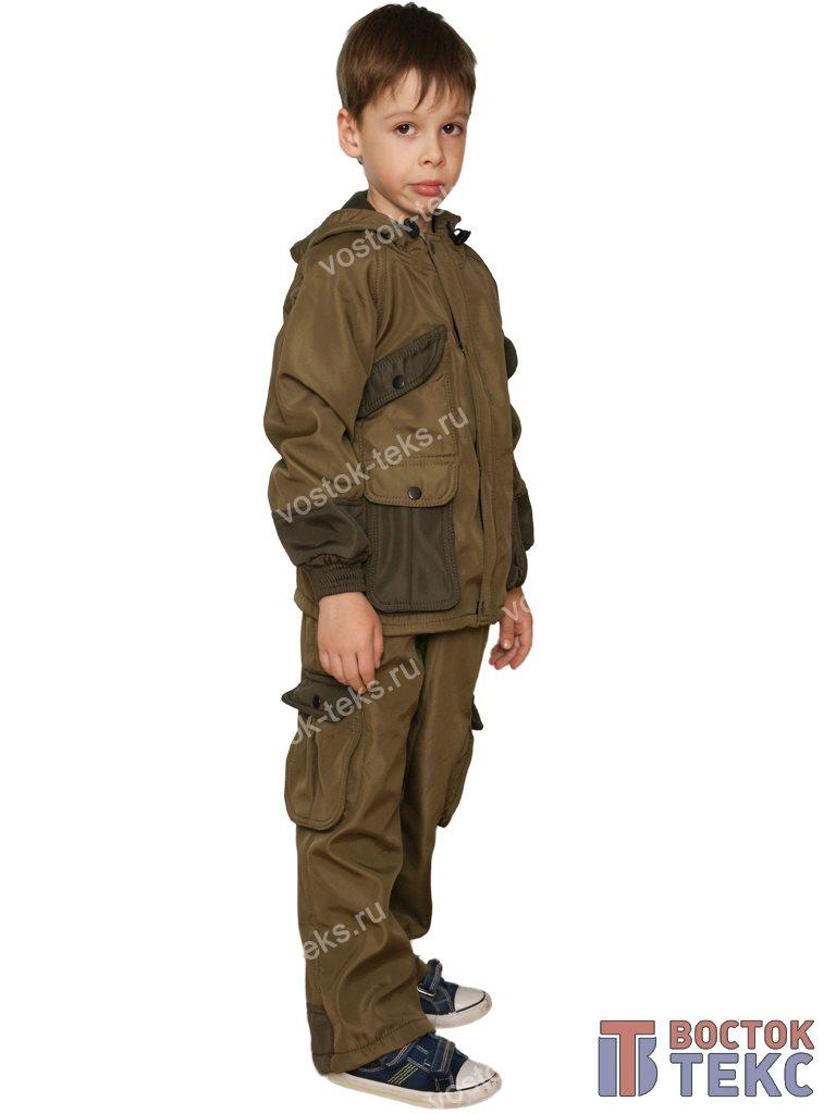 костюм детский Зверобой дмс (полофлис олива/хаки)