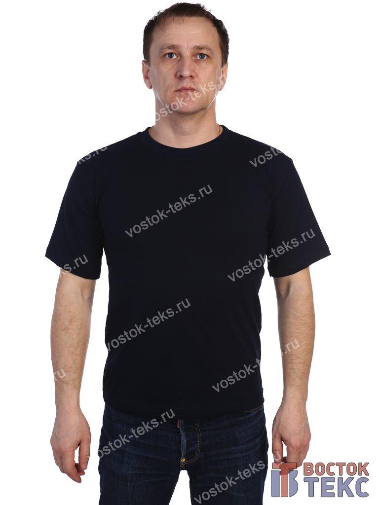 футболка (кулирка) темно-синий