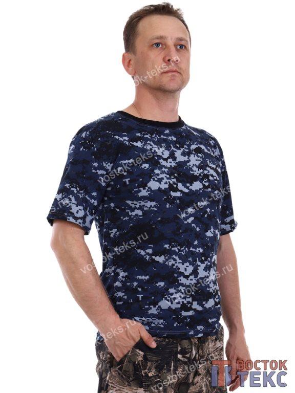 футболка (кулирка) цифра синяя